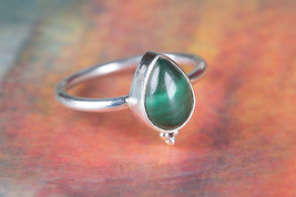 Namibian Malachite Gemstone Sterling Silver Rin... - $12.99 - $15.99