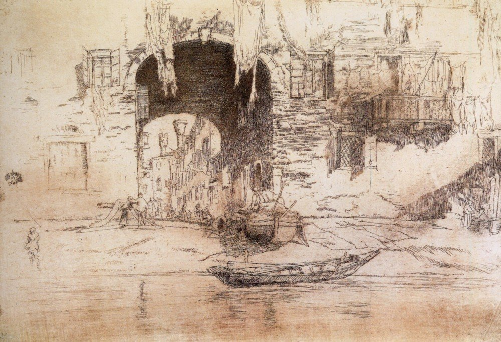 100% Hand Painted Oil on Canvas - San Biagio by Whistler - 20x24 Inch