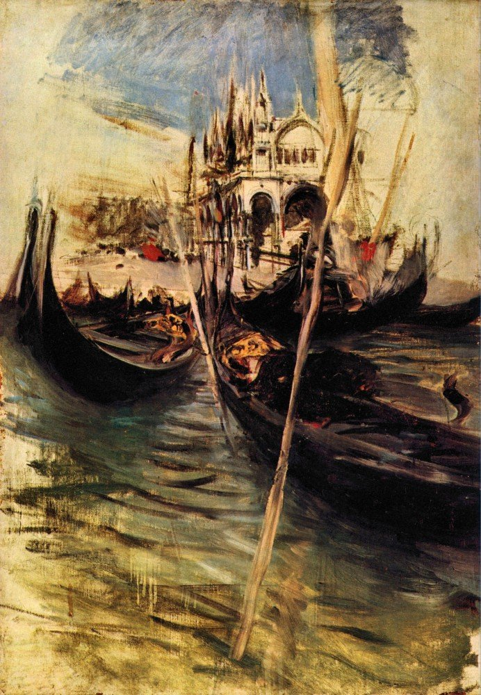 100% Hand Painted Oil on Canvas - San Marco in Venice by Giovanni Boldini - 2...