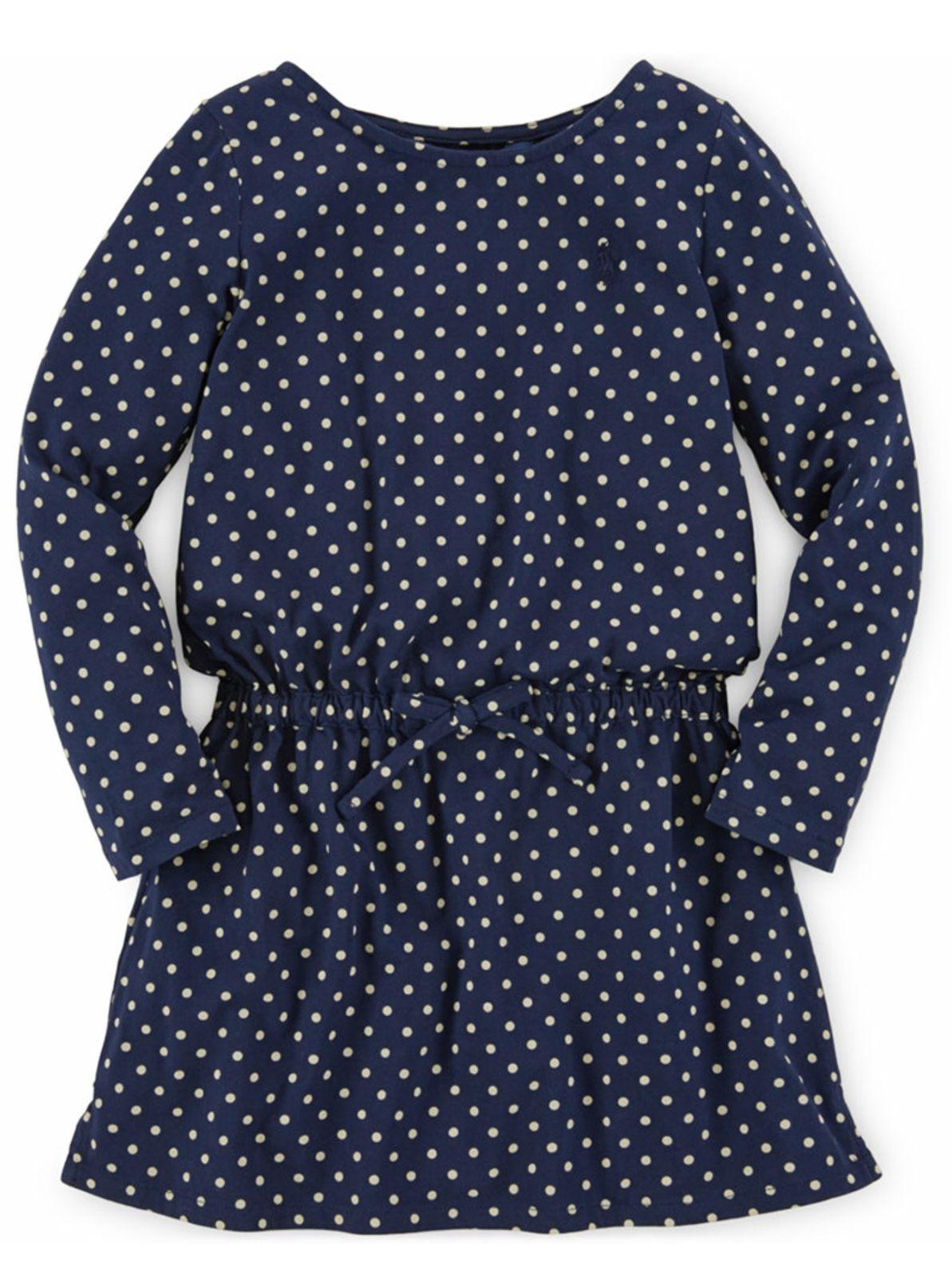 Ralph Lauren Girls Polka Dot-Print Dress
