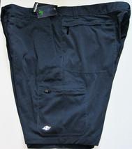 NWT NordicTrack Cargo Shorts Navy Blue 6 pockets Light Polyester Spandex... - $29.70