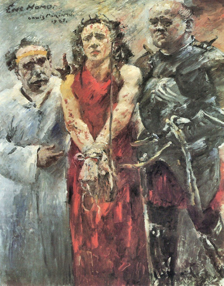 100% Hand Painted Oil on Canvas - Ecce Homo 2 by Lovis Corinth - 20x24 Inch