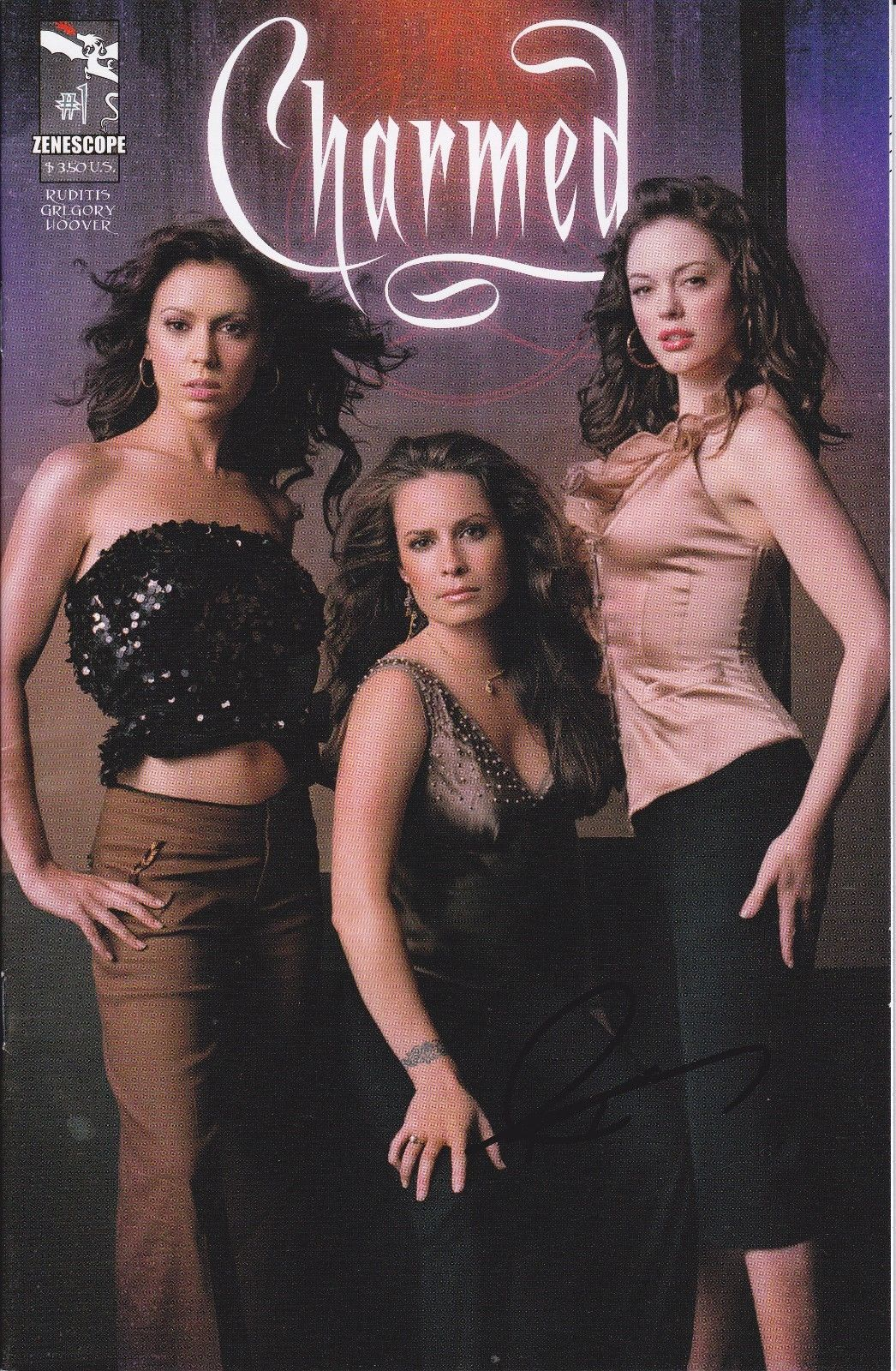 Charmed #1 - Ruditis/Gregory/Hoover - Signed 2010 Zenescope Photo Variant