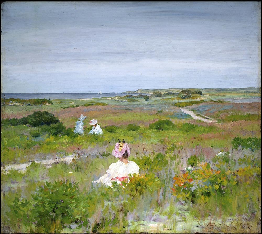 100% Hand Painted Oil on Canvas - William Merritt Chase - Shinnecock, Long Is...