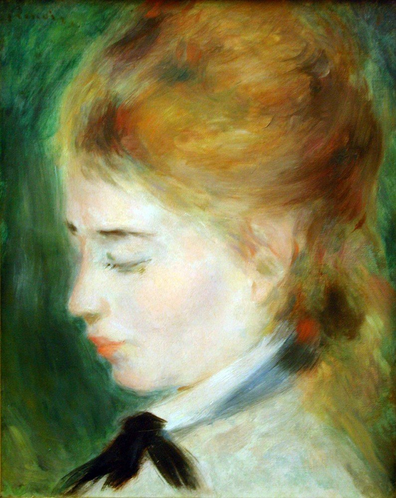 100% Hand Painted Oil on Canvas - Actress Henriette Henriot - 20x24 Inch
