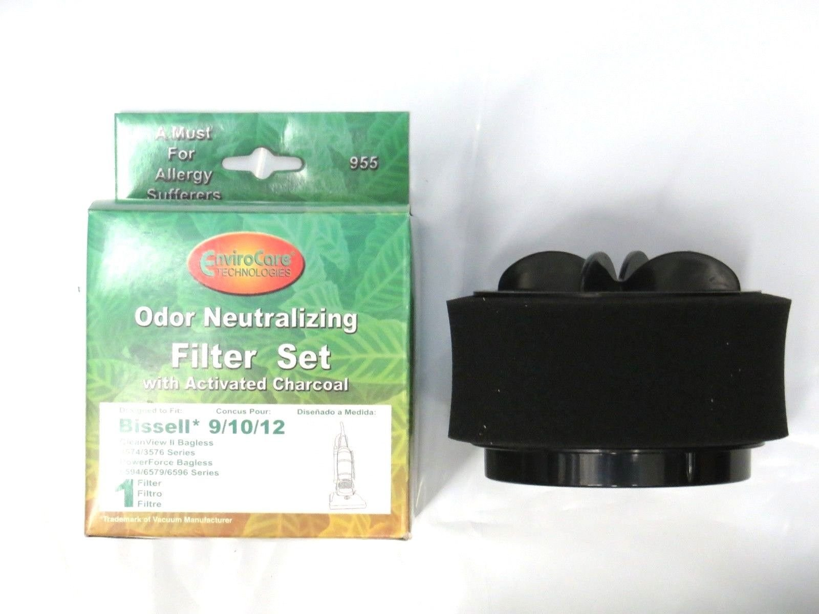 Bissell #203-2587 Inner and Outer Circular Set Upright 9/10/12 filter