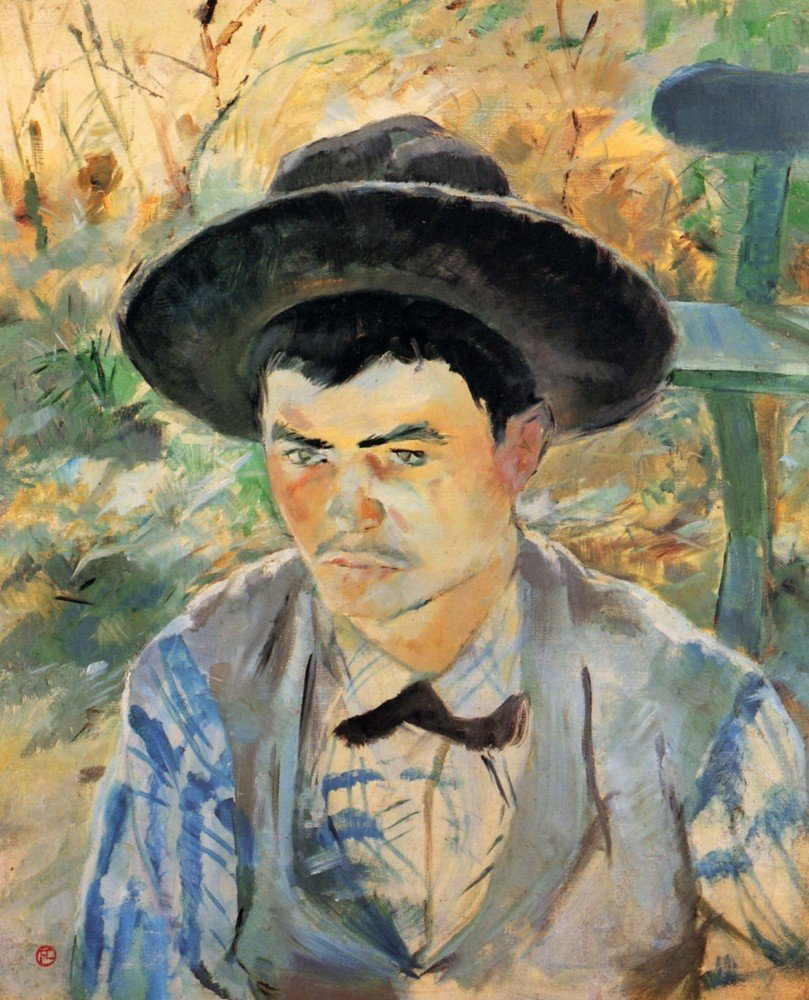 100% Hand Painted Oil on Canvas - The young Routy 2 by Toulouse-Lautrec - 20x...