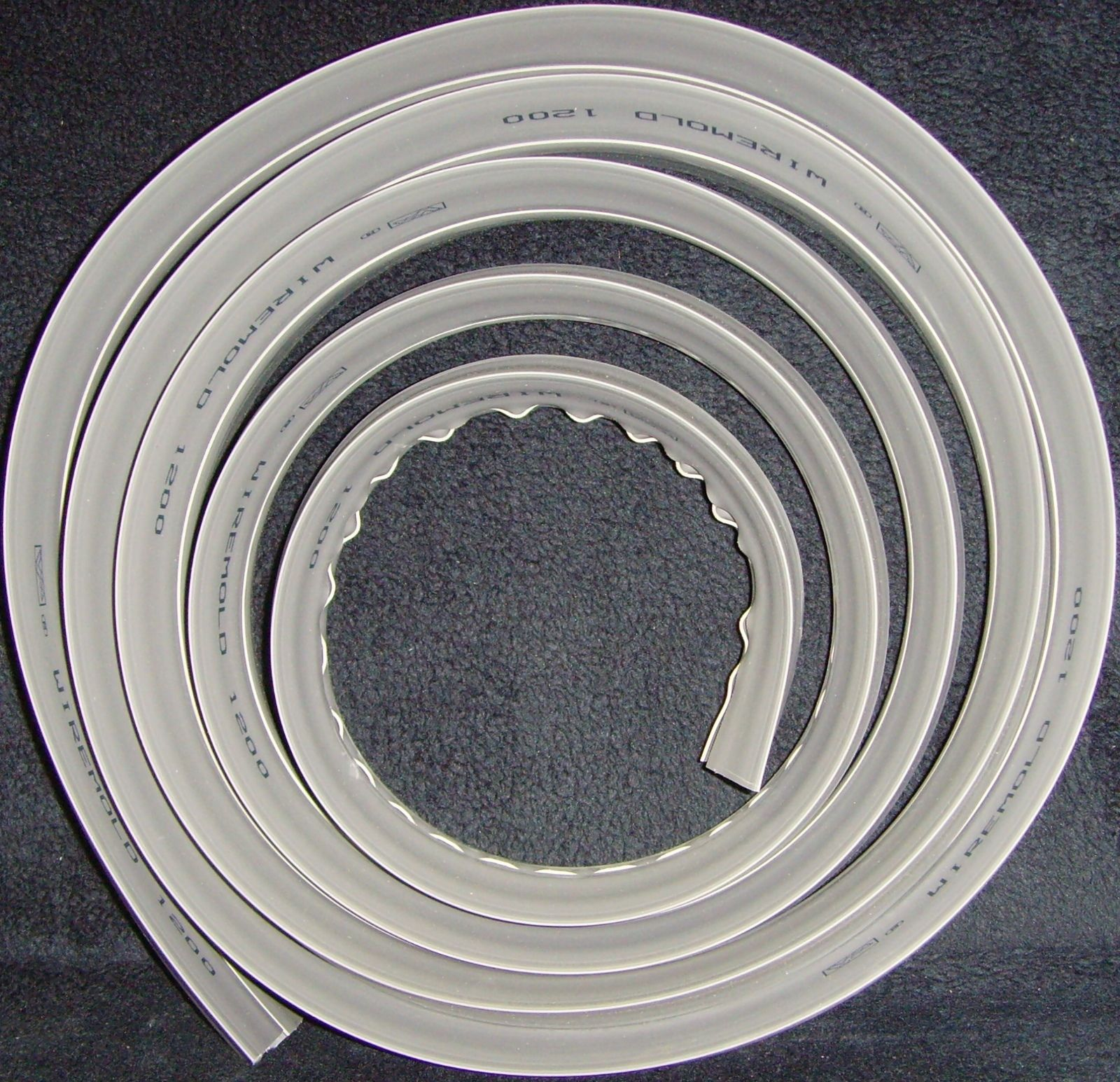 10 Feet•10 Feet•Wiremold•Legrand•Corduct•Cord Protector•10 ft•Grey•10 Feet•10 Ft