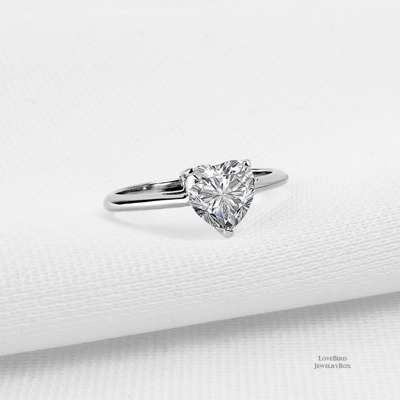 1.25 ct. 925 Sterling Silver Cubic Zirconia Solitaire Engagement Ring