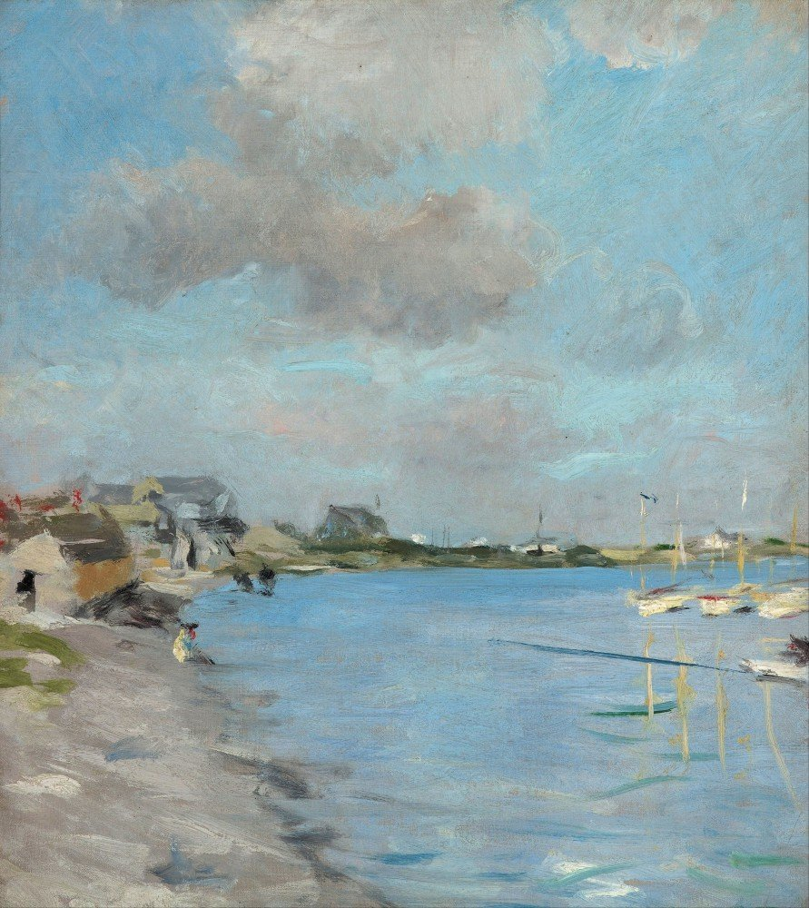 100% Hand Painted Oil on Canvas - Charles Hawthorne - Hyannisport - 20x24 Inch