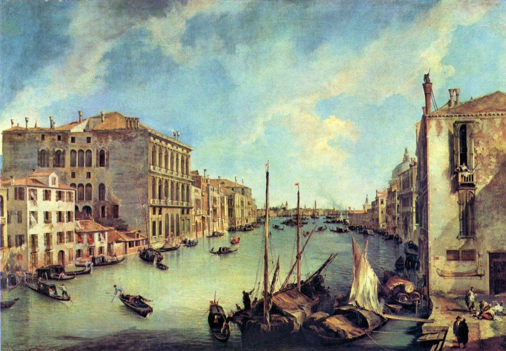 100% Hand Painted Oil on Canvas - Grand Canal at San Vio by Canaletto - 24x36...