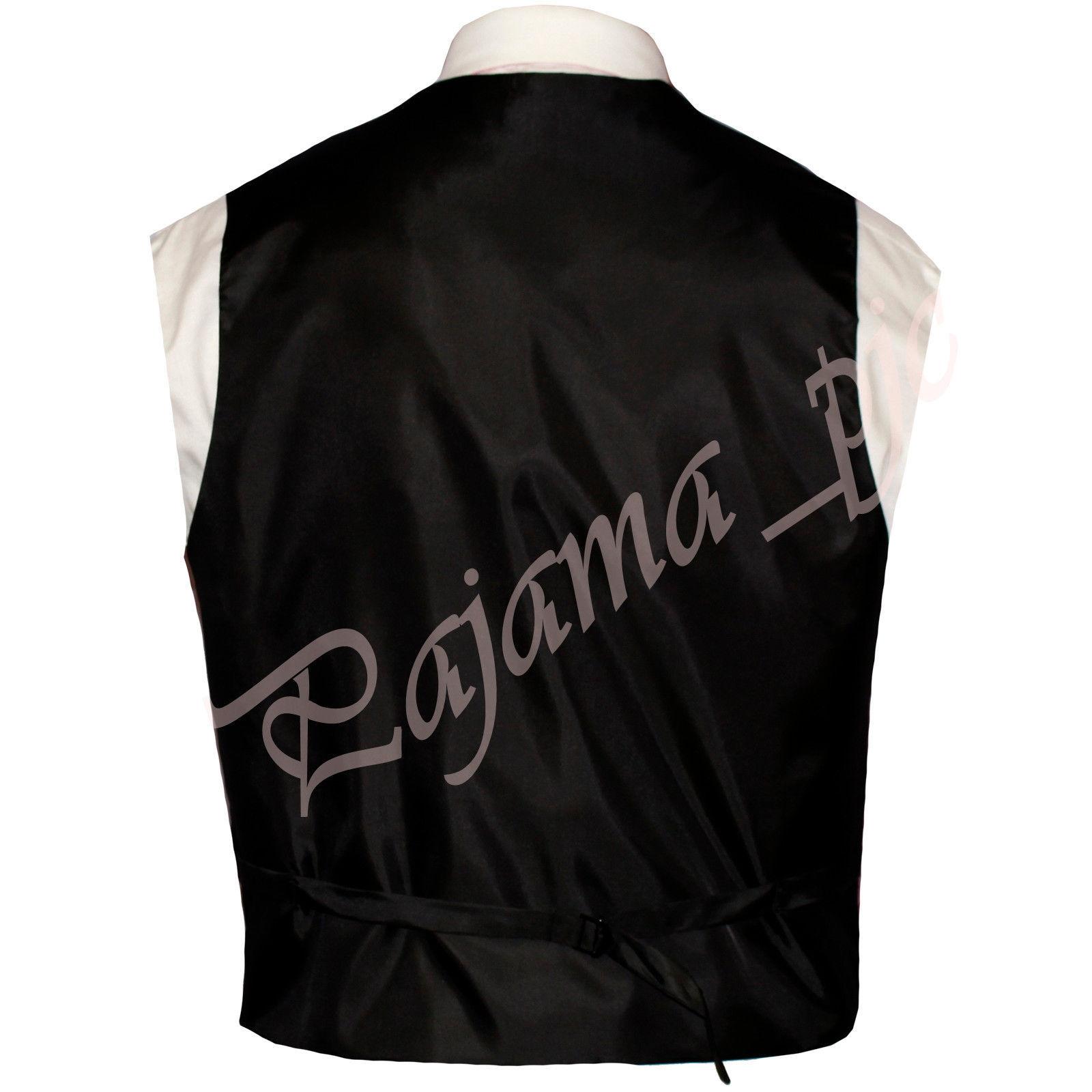 Royal Blue XS to 6XL Paisley Tuxedo Suit Dress Vest Waistcoat & Neck tie Hanky