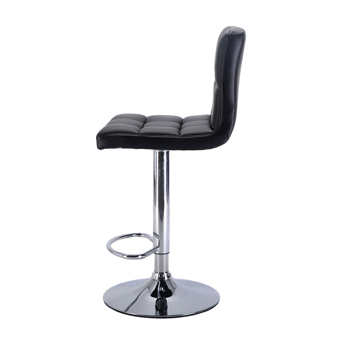Costway Furniture Swivel PU Leather Barstools Chair Adjustable Hydraulic Coun...