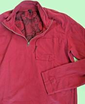UNION LOS ANGELES Boutique USA Men XL Burgundy Half Zip Cotton Sweatshir... - $54.45