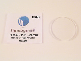 Watch Glass Crystal For HMO Perpetual Time Replacement 28mm Spare Part C34B - $16.29