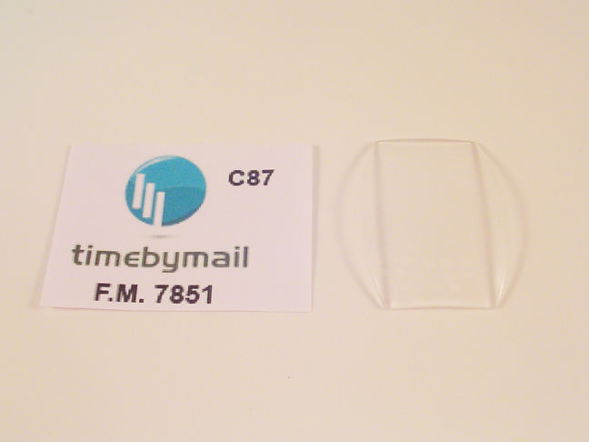 FOR FRANCK MULLER FITS 7851 WATCH REPLACEMENT 34mm X 26mm GLASS CRYSTAL Part C87