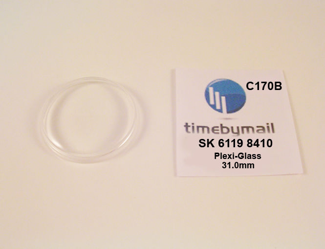New Watch Crystal For SEIKO 5 6119 8410 Automatic Plexi-Glass Spare Part C170B