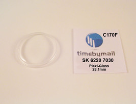 New Watch Crystal For SEIKO 6220 7030 SKYLINER Plexi-Glass Spare Part C170F - $18.79