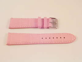 NEW!! QLTY LEATHER PINK CROC WATCH BAND 16MM STRAP S10 - $12.52
