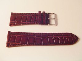 Ex Wide Leather Brown Croc Watch Band 30MM Strap S47C - $12.52