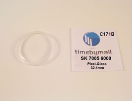 Watch Crystal For Seiko 7005 6000 Diamatic Ufo Plexi-Glass New Spare Part C171B - $18.79