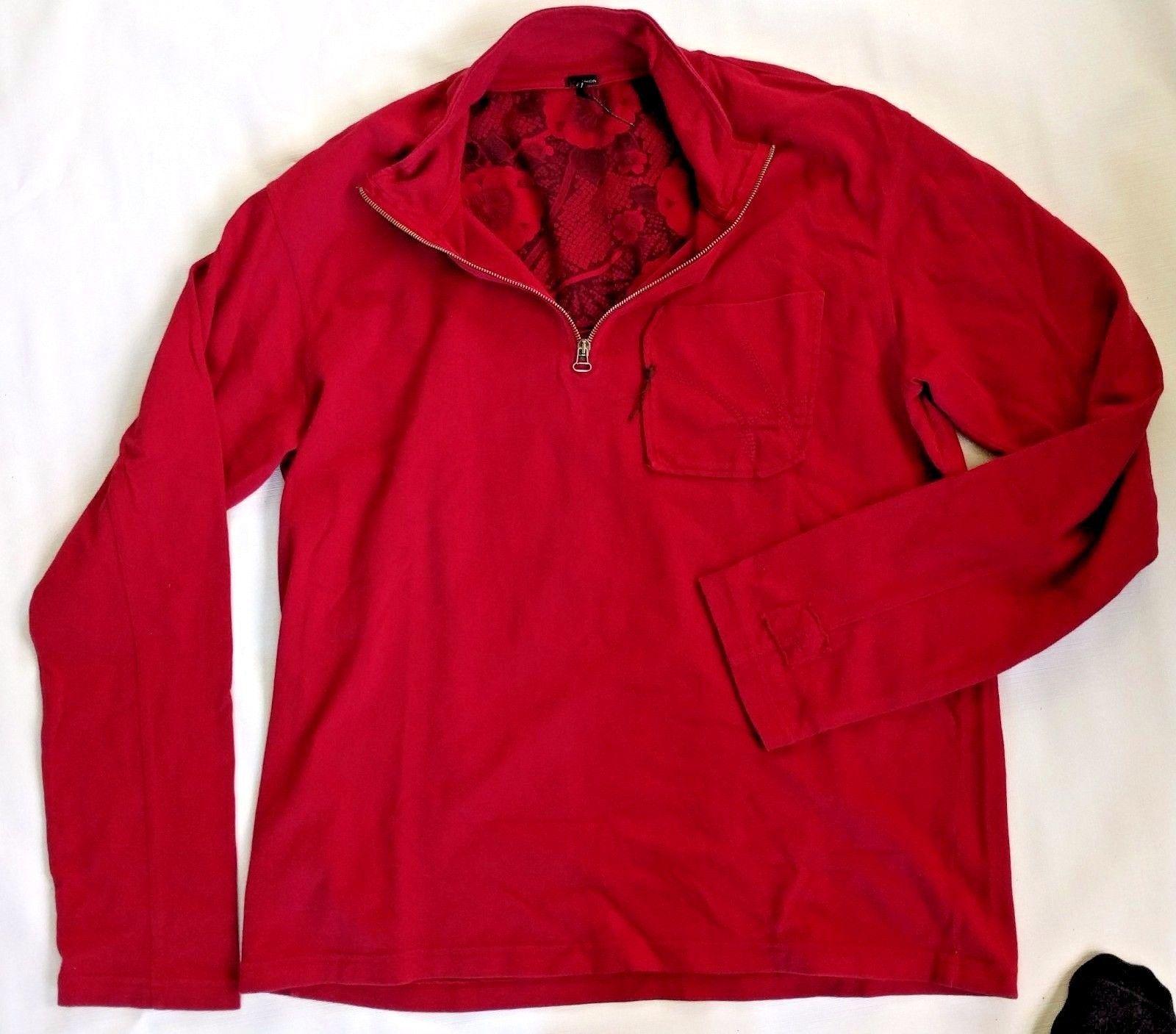 UNION LOS ANGELES Boutique USA Men XL Burgundy Half Zip Cotton Sweatshirt Jacket
