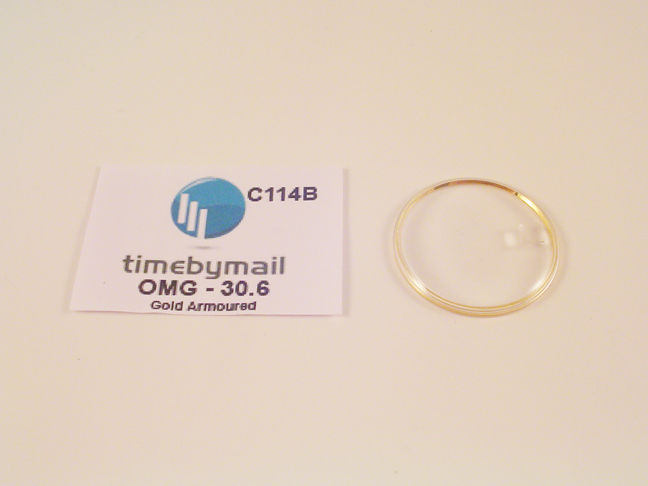 For OMEGA SEAMASTER 30.6mm Date Gold Armoured Watch Glass Crystal Part C114B