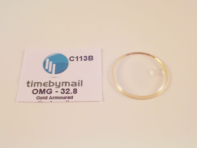 For OMEGA SEAMASTER 32.8mm Date Gold Armoured Watch Glass Crystal Part C113B