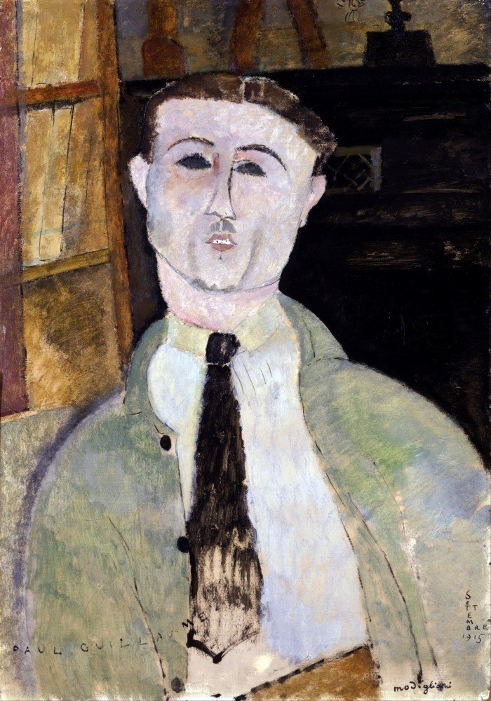 100% Hand Painted Oil on Canvas - Modigliani - Paul Guillaume - 24x36 Inch