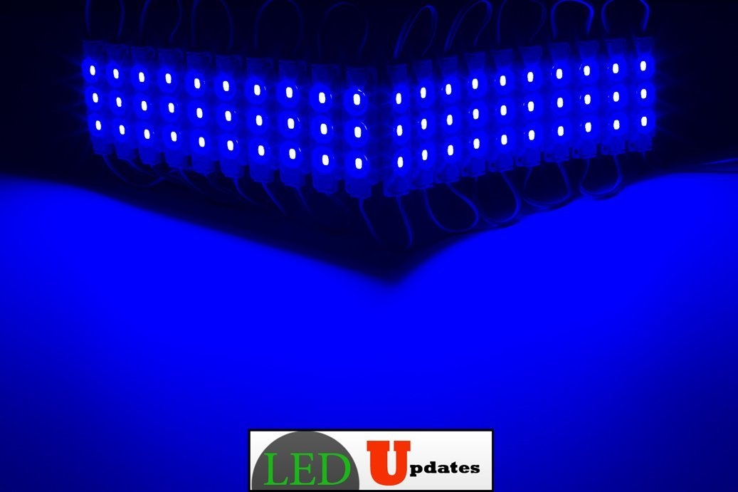 60ft Super bright storefront LED light blue 5630 injection module with UL 12v...