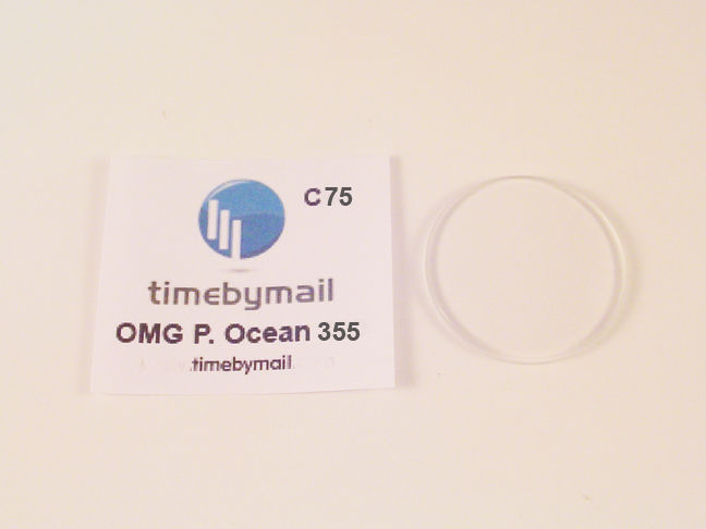 FOR OMEGA ORANGE PLANET OCEAN WATCH GLASS CRYSTAL FITS 35.5mm C75
