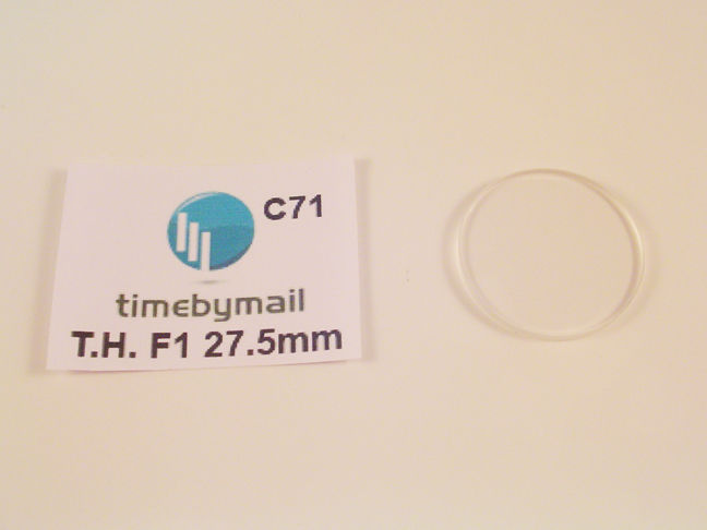 Primary image for FOR TAG HEUER FITS F1 980020 REPLACE WATCH GLASS CRYSTAL 27.5MM C71