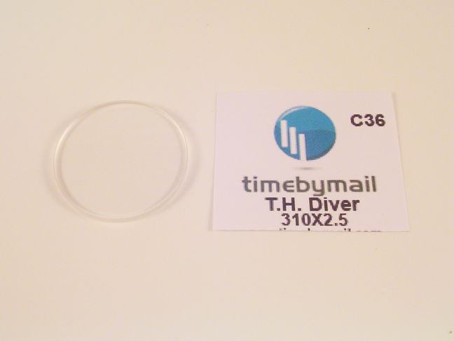 New For TAG HEUER Mens Diver 31mm Replacement Watch Glass Crystal Spare Part C36