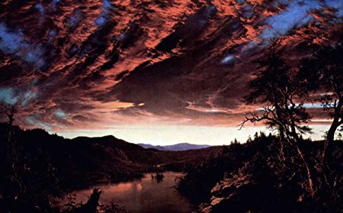 100% Hand Painted Oil on Canvas - Twilight in the Wilderness by Frederick Edw...