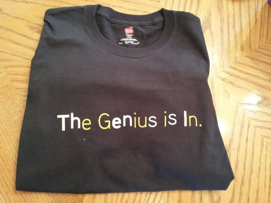 The Genius Is In T-Shirt, Black, Large