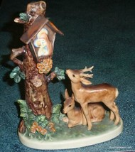 """Forest Shrine"" Goebel Hummel Figurine #183 TMK6 Doe And Buck In Woods G... - $320.09"