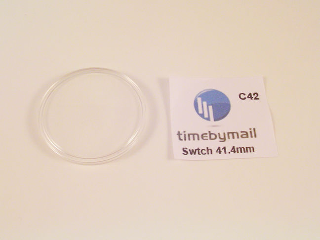 NEW! FOR SWATCH WATCH REPLACEMENT GLASS CRYSTAL FITS 41.4mm C42