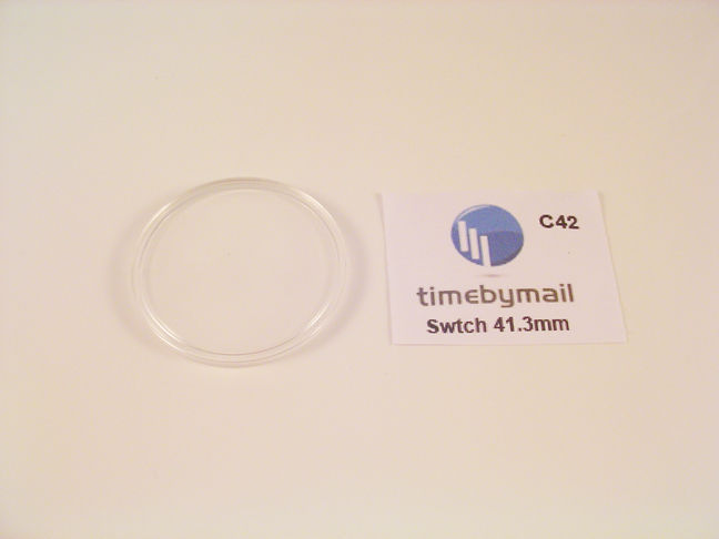 NEW! FOR SWATCH WATCH REPLACEMENT GLASS CRYSTAL FITS 41.3mm C42