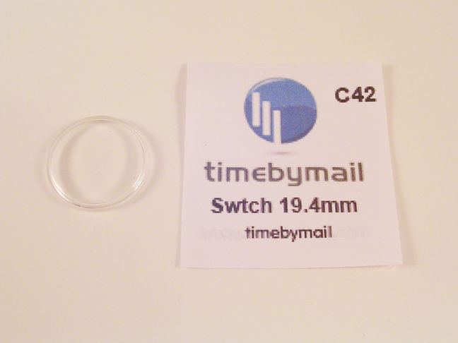 NEW! FOR SWATCH WATCH REPLACEMENT GLASS CRYSTAL FITS 19.4mm C42