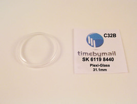 New Watch Crystal For SEIKO 5  6119 8440 Automatic Plexi-Glass Spare Par... - $18.79