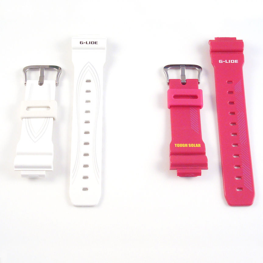 Mens Ladies Casio G SHOCK GLX6900 G-GLIDE Original Watch Band Strap Pink White