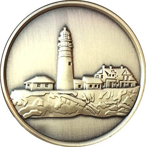 Fog Light Prayer Lighthouse Antique Bronze Medallion Chip - Recoverychip