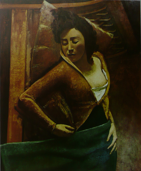 Sleeping Girl - Balthus - Framed Picture 11 x 14