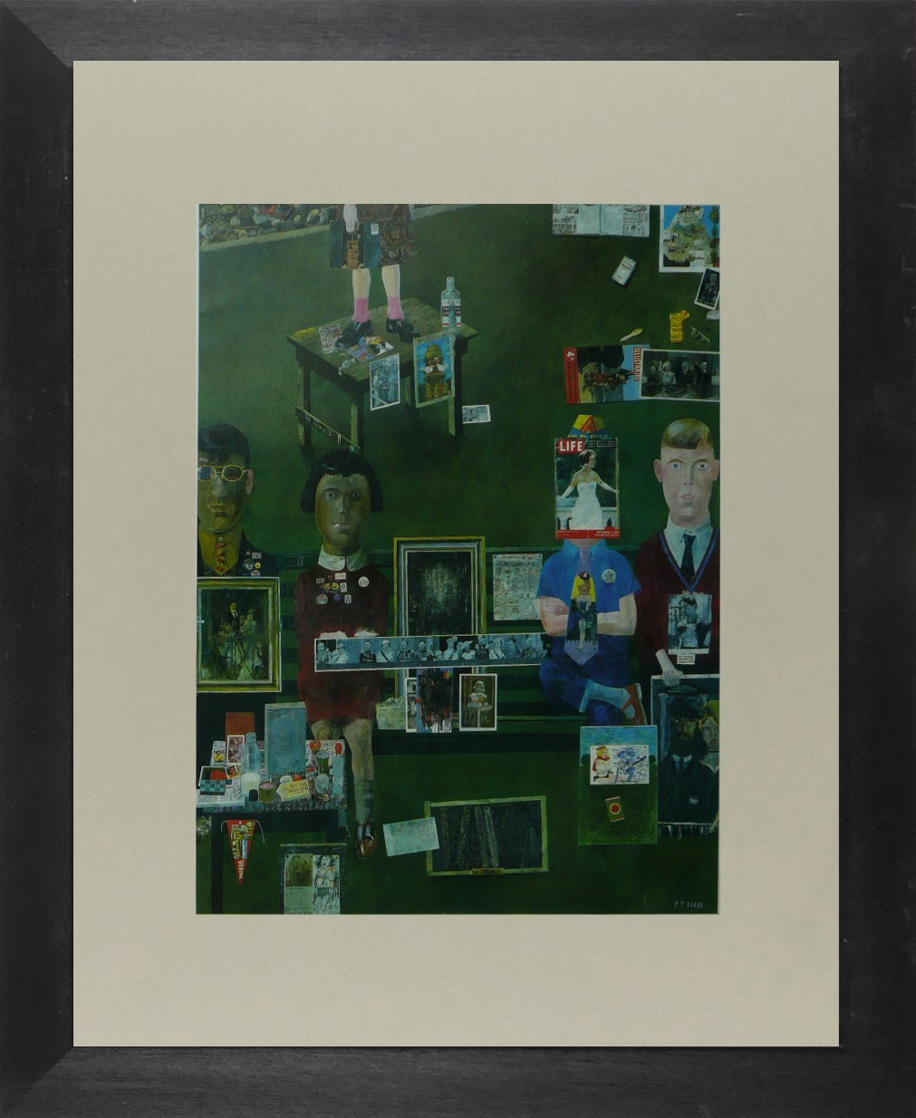 On the Balcony - Peter Blake - Framed Picture 11 x 14