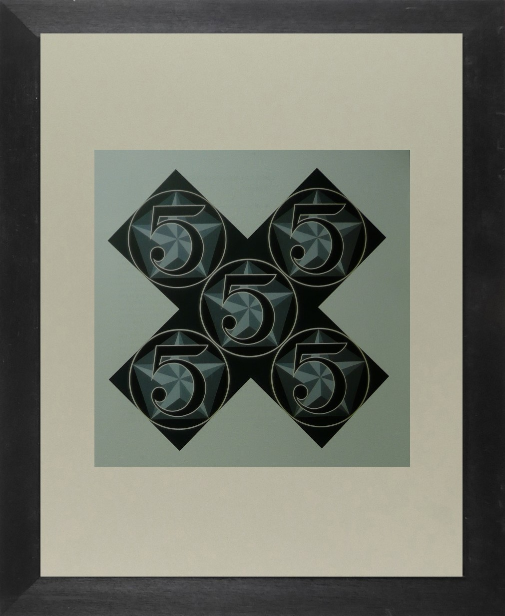 The Five Stars - Robert Indiana - Framed Picture 11 x 14