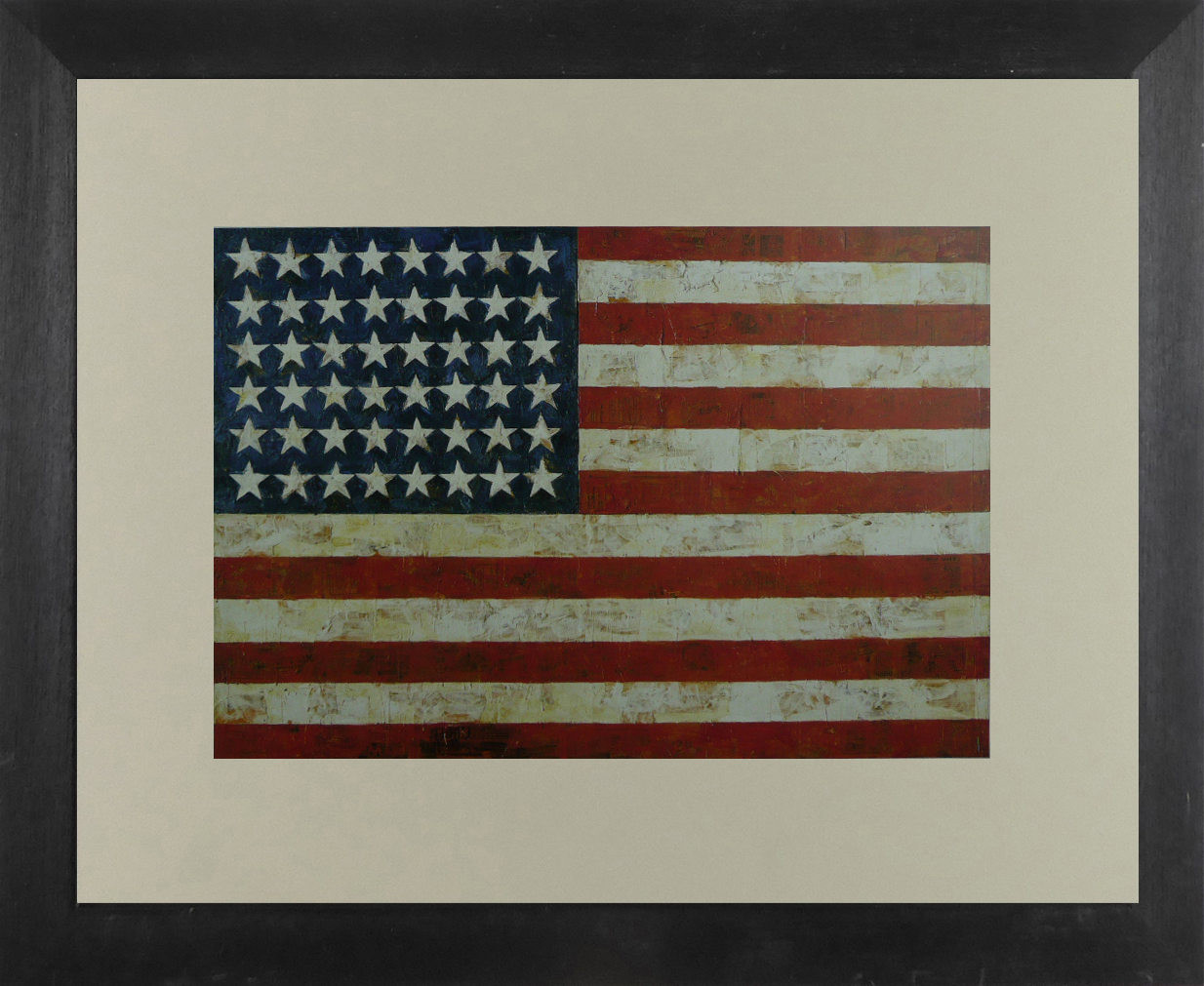 The American Flag  - Jasper Johns - Framed Picture 11 x 14