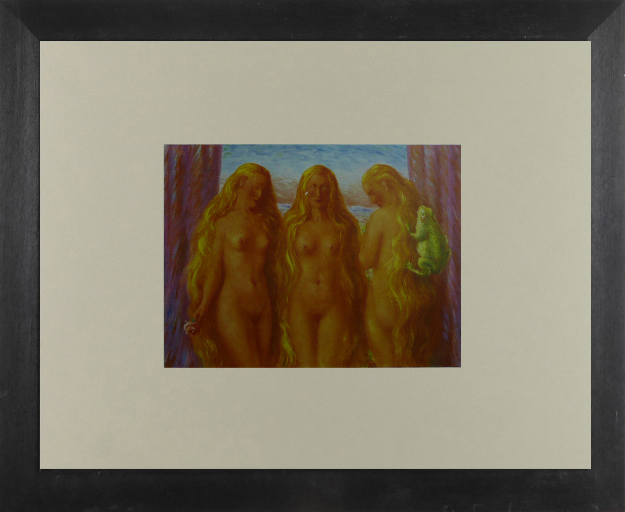 The Sea of Flames - Ren Magritte - Framed Picture 11 x 14