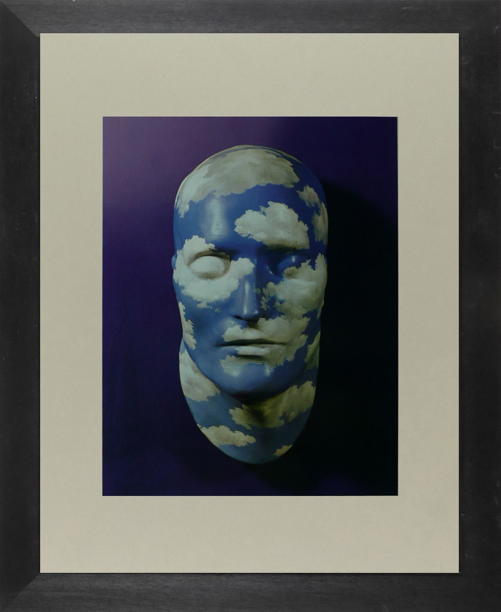 The Future of Statues - (Blue and White Painted plaster mask) - Ren Magritte - F
