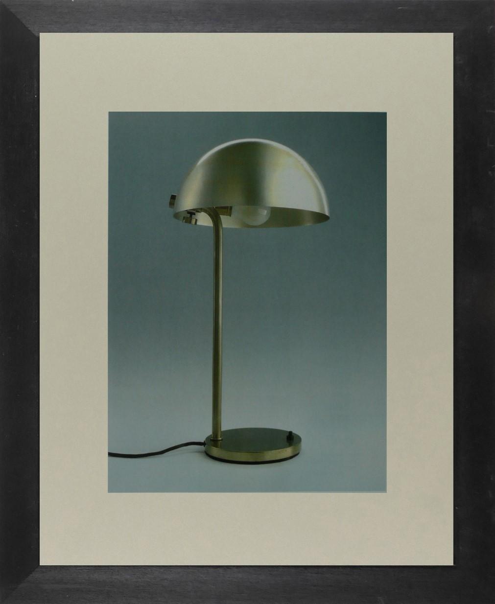 Marianne Brandt - Metallic table lamp (Bauhaus) - Framed Picture 11 x 14