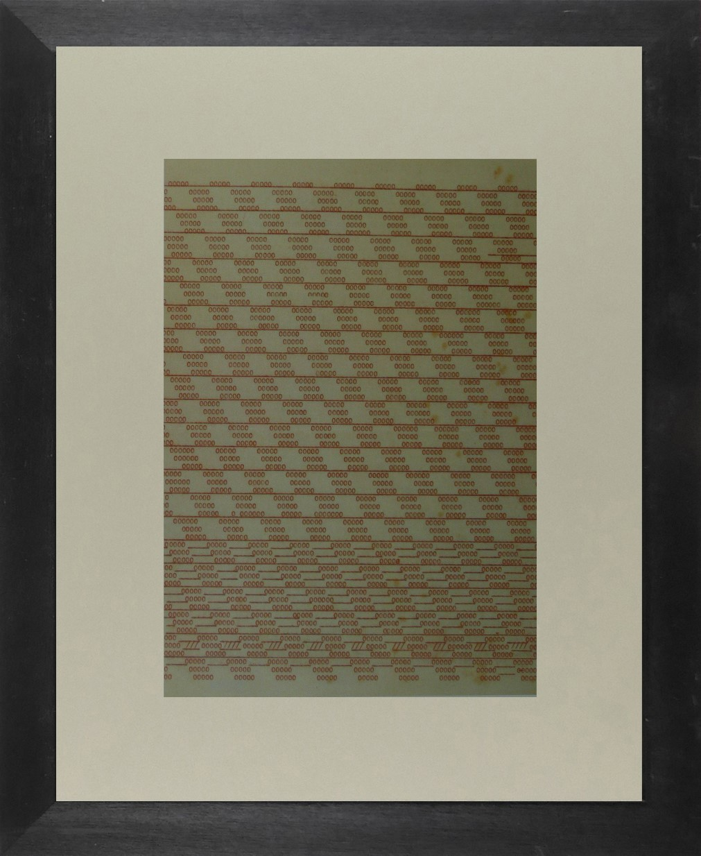 Zeros in red - (Bauhaus) - Framed Picture 11 x 14